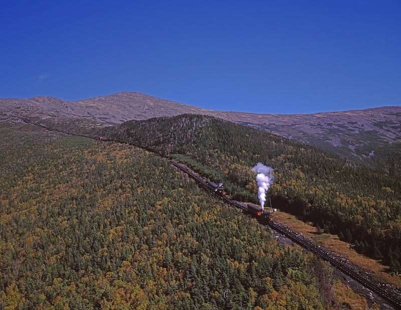 Cog railway in New Hampshire's White Mountains